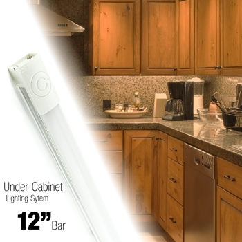 Sensational 12 Inch Led 240 Lumen Lighting Kit Under Cabinet Counter Accent Light Warm White 3000K Or Neutral White 4000K On Off Touch Button Ul Listed Home Interior And Landscaping Ponolsignezvosmurscom
