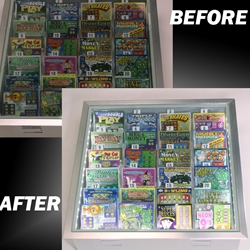 Increase Lottery Tickets sales by illuminating the dispensers