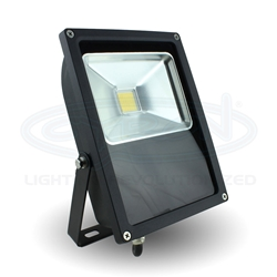 Flood Light, Indoor/Outdoor Black, White 50W
