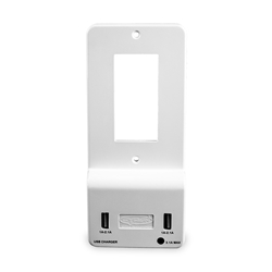 Cyron Outlit-Mate Dual USB Port Wall Charger Outlet Receptacle Socket, Wall Plate Cover Included, Built-In LED Night Light, ETL Listed, Decor White