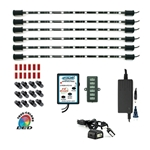 "570 Lumen LED RGB Multicolor Home TV Accent Light Kit, Under Cabinet Counter Lighting, Wired Controller, 360 Degrees Rotatable, 6 x 15"" Bars, ETL Listed"